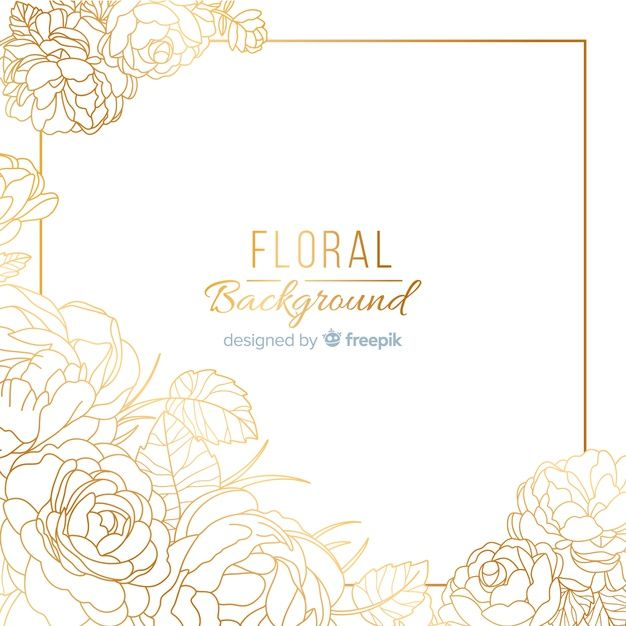 Download Hand Dawn Golden Floral Background For Free Cartoes De