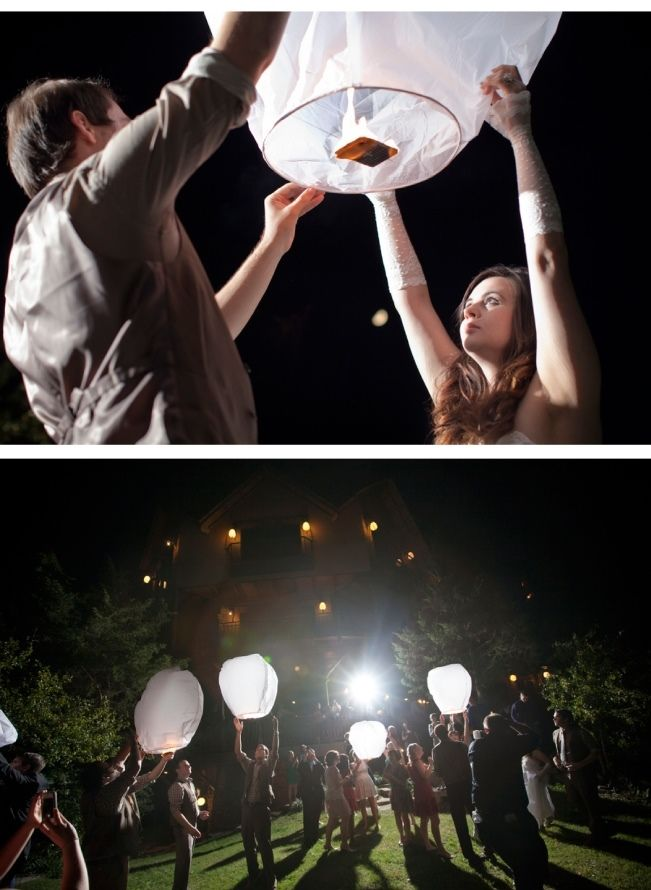 DIY Paper Lanterns For Weddings | DIY Rustic Vintage Wedding at Thorncrown {from Photo Love}
