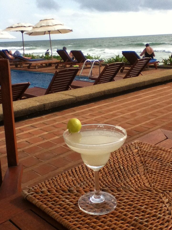 Margarita time at the Galle Face Hotel in Sri Lanka