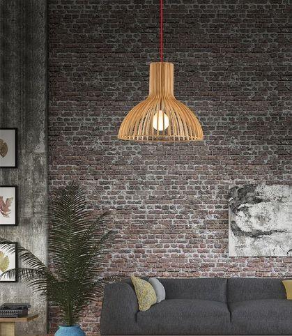 Μοντέρνο #φωτιστικό εσωτερικού χώρου από φυσικό ξύλο. Μπορείτε να το βρείτε σε διάφορα σχέδια για να επιλέξετε ποιο σας αρέσει ή ακόμα και να τα συνδυάσετε στο χώρο. Για μεγαλύτερη οικονομία στην κατανάλωση ενέργειας προτείνουμε να επιλέξετε λαμπτήρες #LED: http://kourtakis-lighting.gr/35-lamptires-led-E27