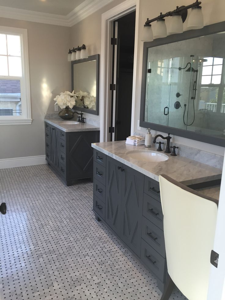 Grey master Vanity, Carbon Color from Jeff Lewis Designs