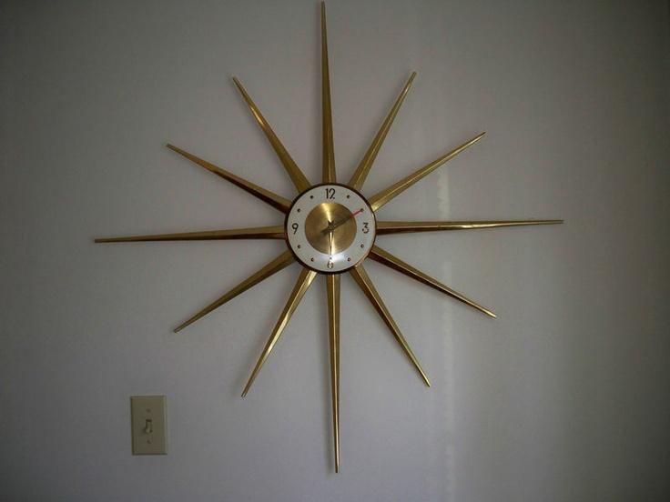 Vintage Roxhall Starburst Wall Clock Sunburst Eames