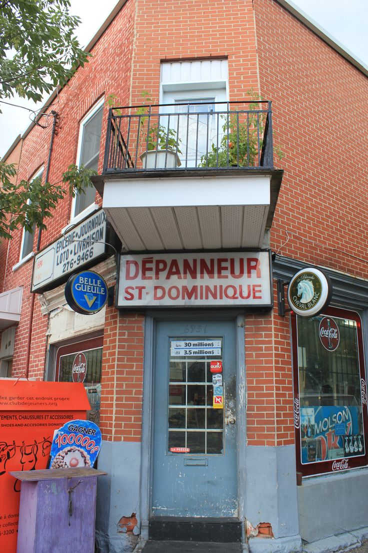 Quintessential Montreal - the true corner store: dépanneur! If 7VE came and bought out all the corner stores, I think Montrealers would start a revolution.