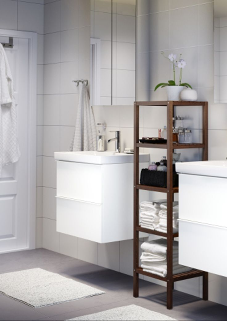 295 best bathrooms images on pinterest bathroom ideas for Small bathroom ideas ikea