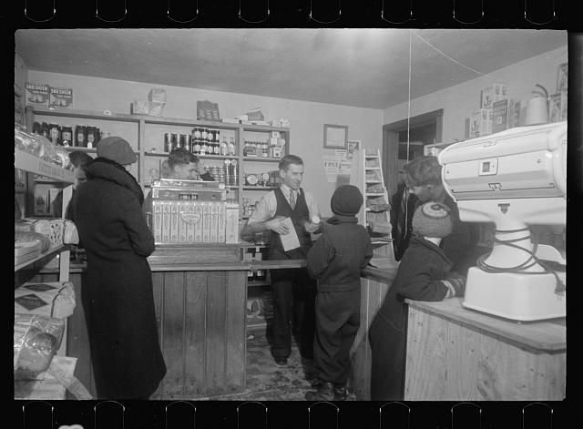 Cooperative store, Westmoreland Homesteads, Mount Pleasant, Westmoreland County, Pennsylvania. Interior of cooperative store
