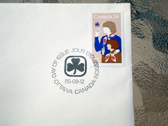 Commemorative Girl Guide Stamp Official FDC (First Day Cover) - 1910-1985 - Girl Guides of Canada 75th Anniversary Vintage