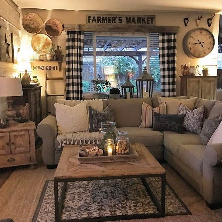 """3,309 Likes, 41 Comments - DECORSTEALS.COM (@decorsteals) on Instagram: """"@rusticfarmhome sure does have a talent for combining different tones and textures to create a warm…"""""""