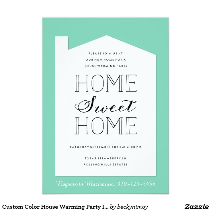 73 best zazzle party invitation collection images on pinterest custom color house warming party invitation stopboris Gallery
