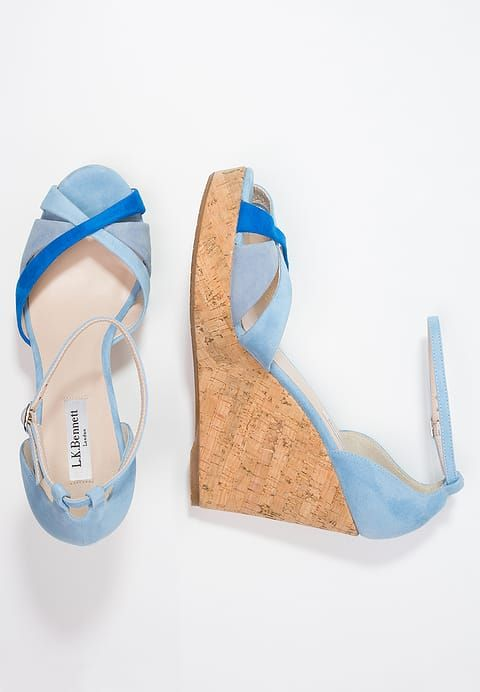 LK Bennett LINETTE - Sandali con i tacchi - blue - Zalando.it