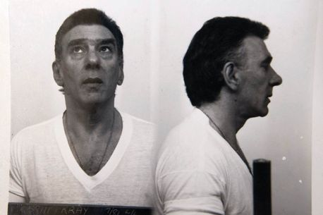 Rare mug shot of Reg Kray