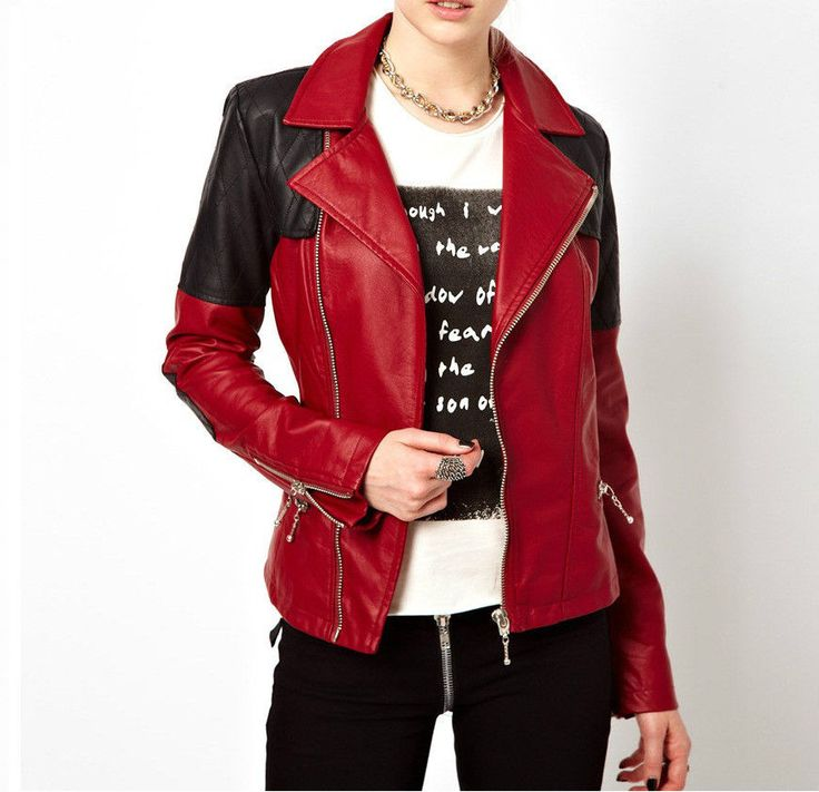Women Lambskin Leather Jacket Motorcycle Bomber Biker Soft Jacket - S M L # 270 #asaavileathers #Motorcycle