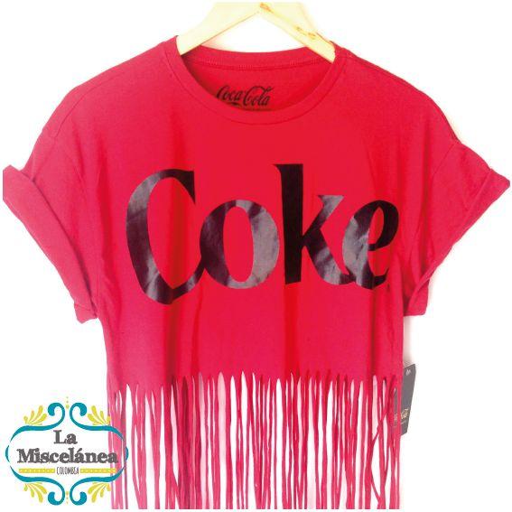 Coke TShirt! Camiseta Coca Cola al mejor estilo Hippie Chic! compra y entrega inmediata COLOMBIA! Whatsapp 3135724122