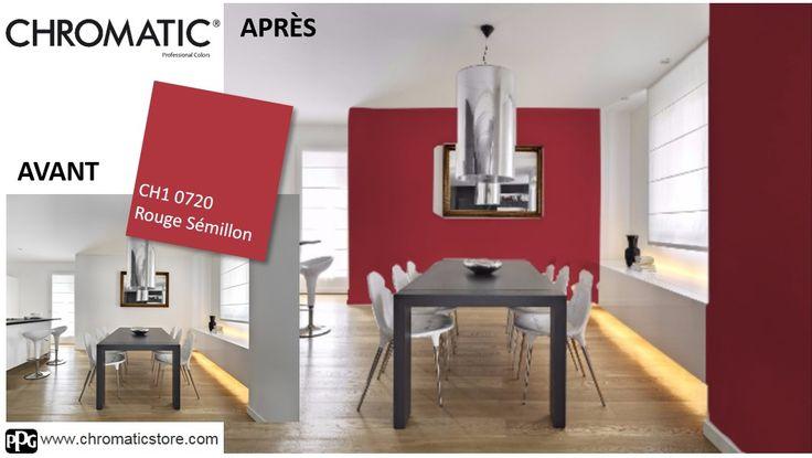 Vous aussi, simulez en ligne votre ambiance déco avec le Rouge Sémillon CH10720 grace au simulateur déco CHROMATIC®. www.chromaticstore.com