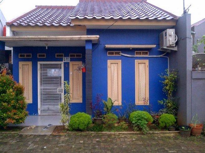 cat luar rumah warna biru