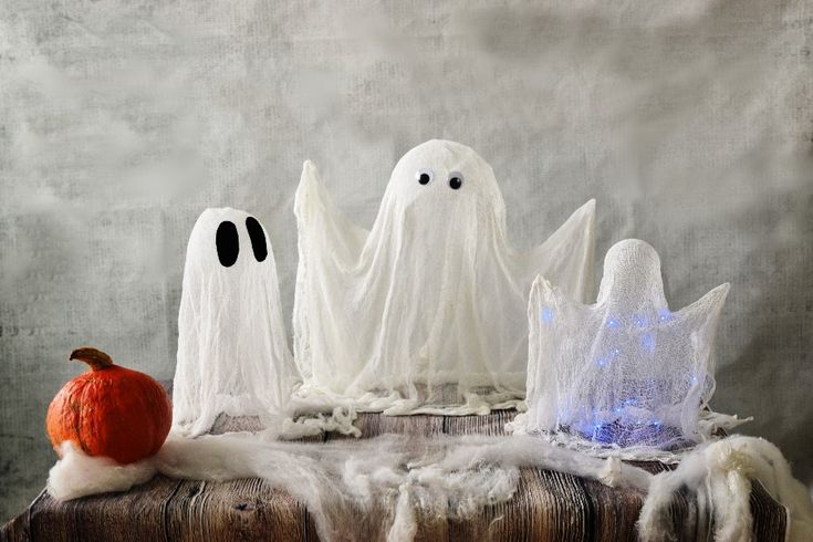 Halloween ghosts easy photo tutorial