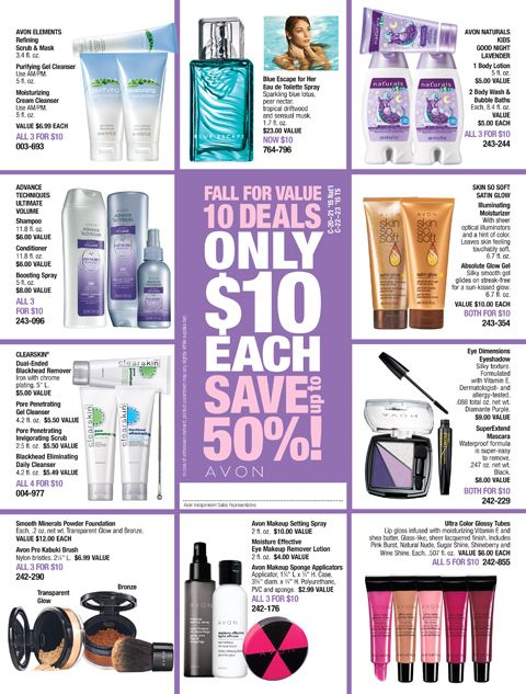 Best Avon Sales Flyers Images On   Avon Online
