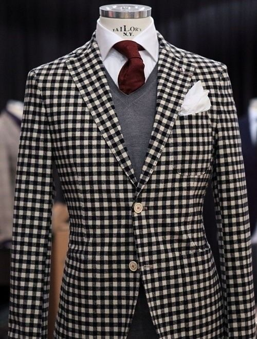 Black And White Checkered Sport Coat