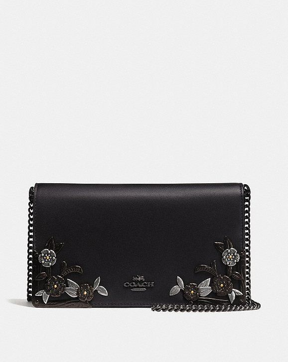 623b6d90d81a Callie Foldover Chain Clutch With Metal Tea Rose in 2019