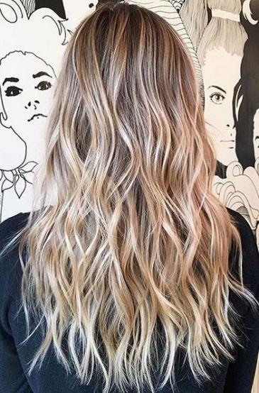 Sandy And Beige Blonde Highlights Blonde Pinterest
