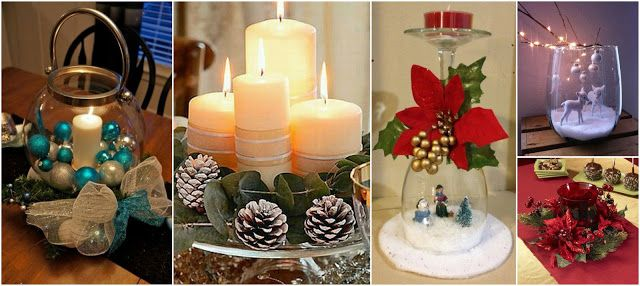 15 Ideas hermosas para hacer centros de mesa navideños ~ Mimundomanual
