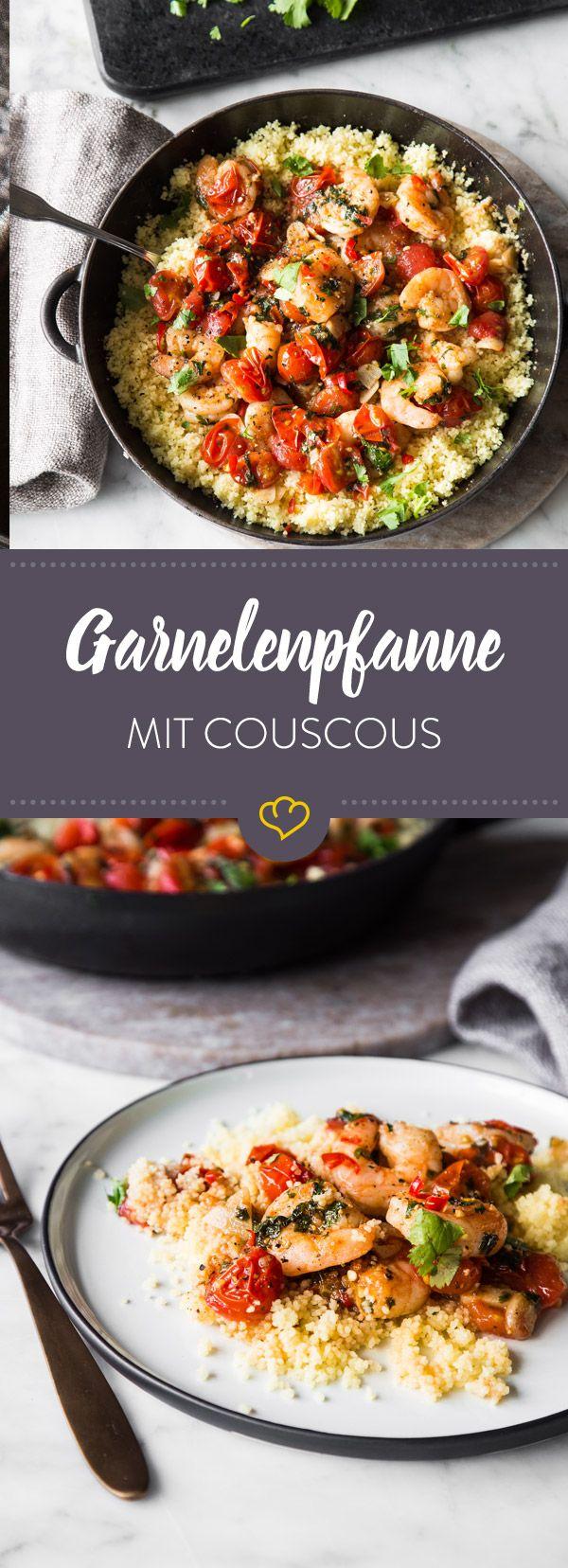 Photo of Quick shrimp pan with couscous