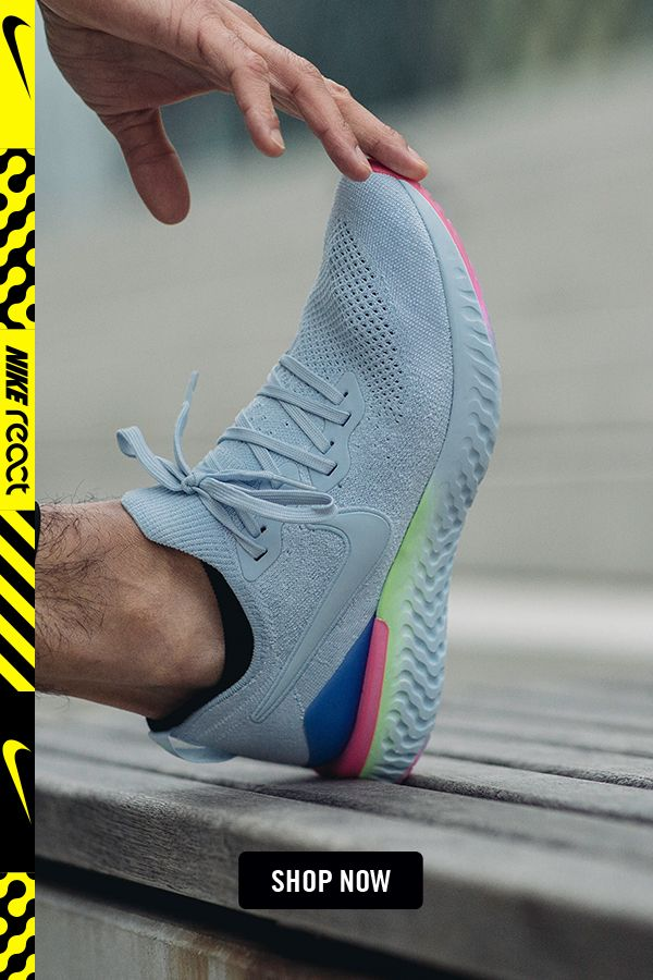 chaussures basses running homme nike nike epic react flyknit 2 noir