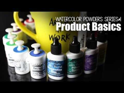 Getting Started: Watercolor Powders 1, Brusho v Colorburst - YouTube