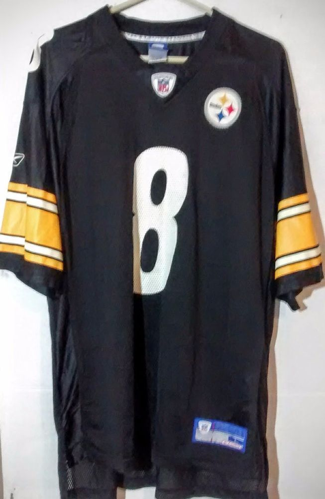 Tommy Maddox Men's Black Reebok NFL Jersey XL Pittsburgh Steelers Free Shipping #Reebok #PittsburghSteelers
