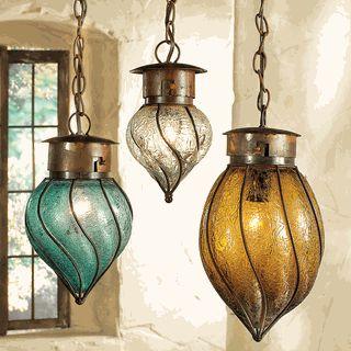 Southwest Glass Pendant Lights