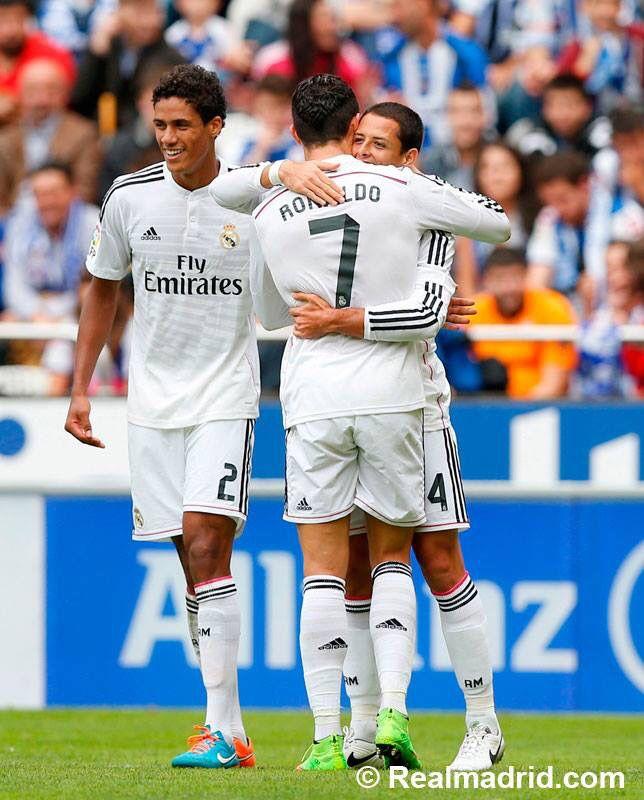 Javier Hernandez Real Madrid: Varane Ronaldo Chicharito