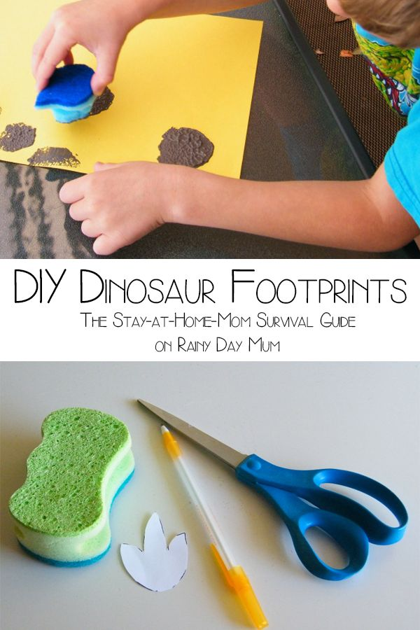 DIY Dinosaurs tracks - a simple and fun activity for all those dinosaur mad children that you know.