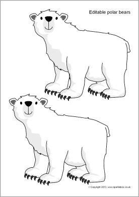 Editable polar bear templates (SB9233) - SparkleBox