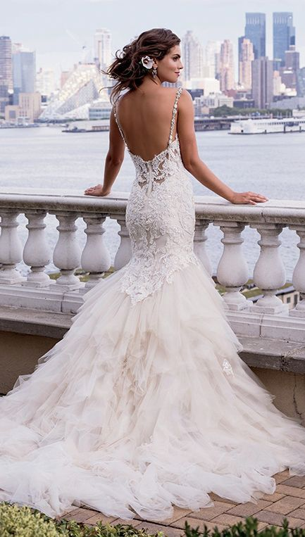 2453 best wedding dresses mermaid images on pinterest short stunning beaded spaghetti strap mermaid style wedding dress featured dress eve of milady junglespirit