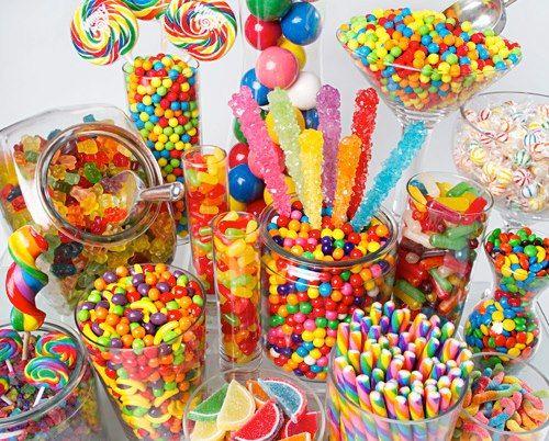 rainbow candy display - Google Search