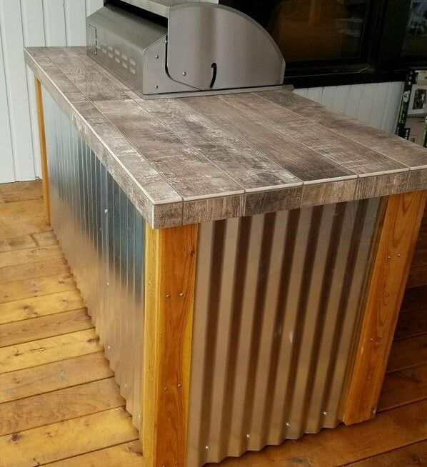 how to build a concrete countertop for outdoor kitchen