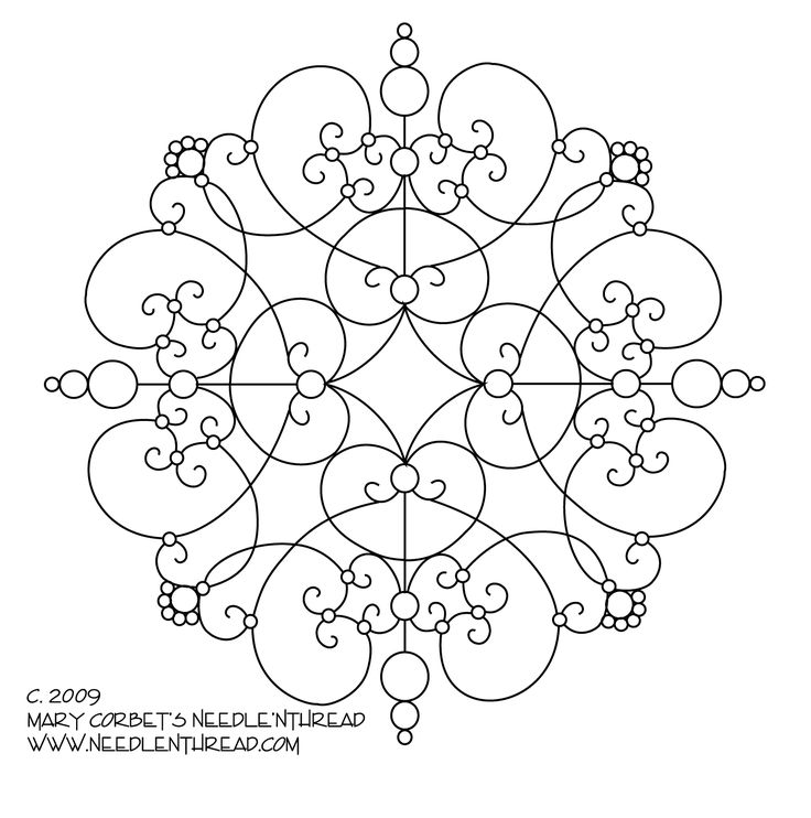 free hand embroidery patterns | Free Hand Embroidery Pattern: Another Scrolly Medallion – Needle ...