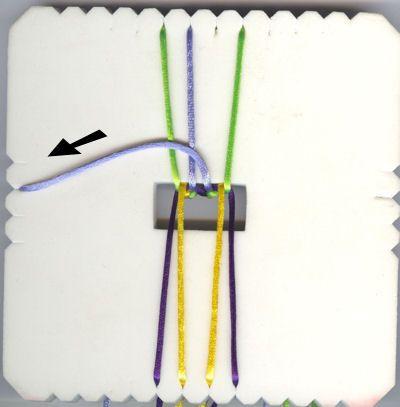 Kumihimo Flat Braid Tutorial - using satin cord / rattail cord