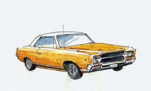 Another car at display at Turner flowers. A Rambler AMC Ambassador about 1969…