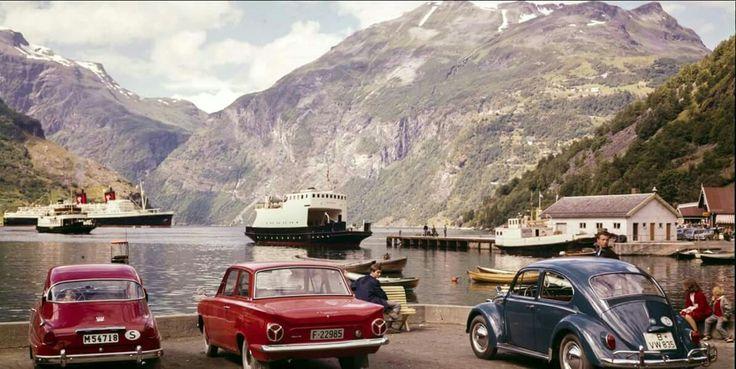 Møre og Romsdal fylke Stranda kommune Geiranger 1955 Utg Normann