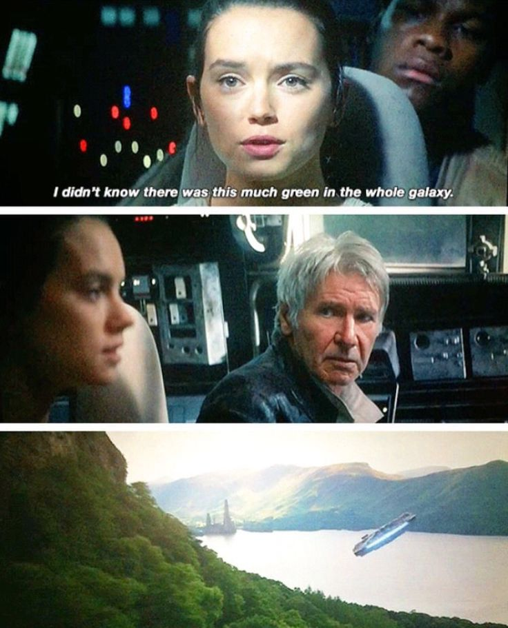 Image result for i never knew there was so much green in the whole galaxy rey meme