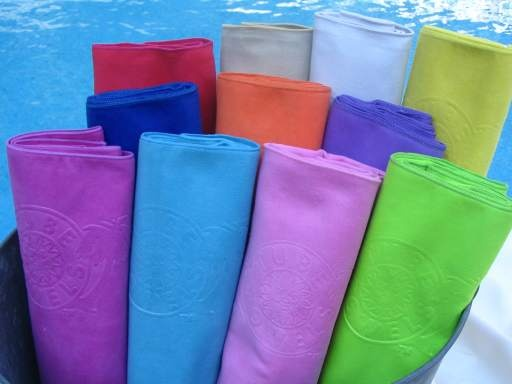 Tube Towels for the pool - made of micro-fiber suede, kind ...