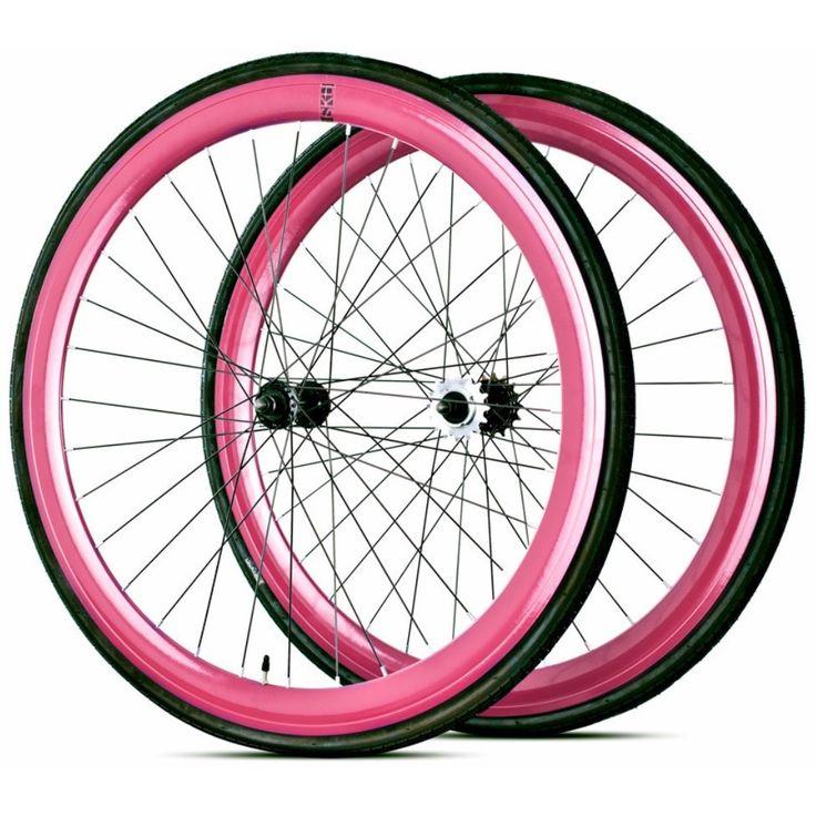 6KU DeepV Anodized Fixie Wheel Set Fixed gear, Single