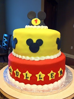 Micky Mouse birthday cake from Sweets & Treats Boutique