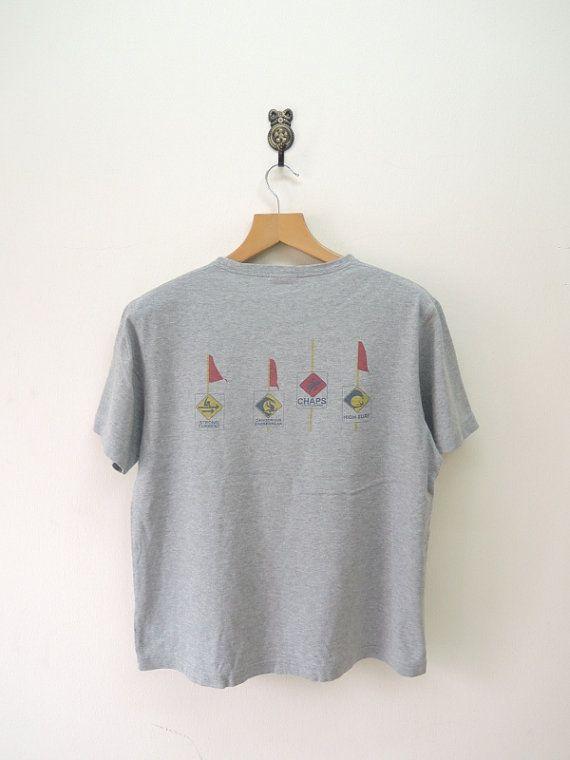 Vintage Chaps Ralph Lauren Dive T-Shirt Scuba by RetroFlexClothing