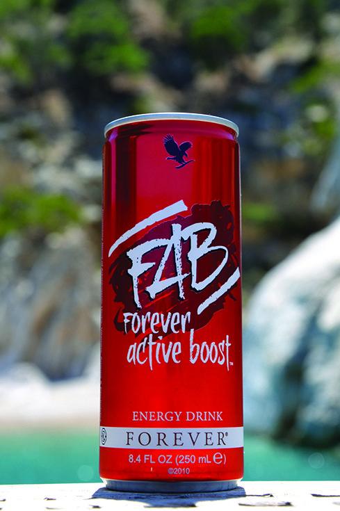 FAB Forever Active Boost. La bevanda energizzante FAB, fornisce al tuo fisico effetti energetici immediati e duraturi: la carica energetica con effetto a breve termine deriva dal guaranà e dalla caffeina naturale, mentre quella con effetto a lungo termine è apportata e potenziata dalla miscela brevettata di erbe adattogene e altri elementi nutrizionali. Contenuto 250 ml. (art. 321)