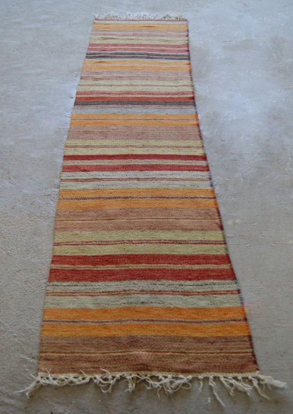 2 9 X11 Vintage Runner Rug Striped Turkish Hallway
