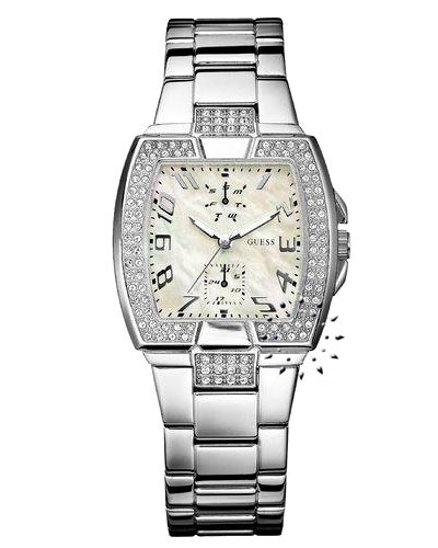 GUESS Stainless Steel Crystal Ladies Calendar  112€  http://www.oroloi.gr/product_info.php?products_id=7445