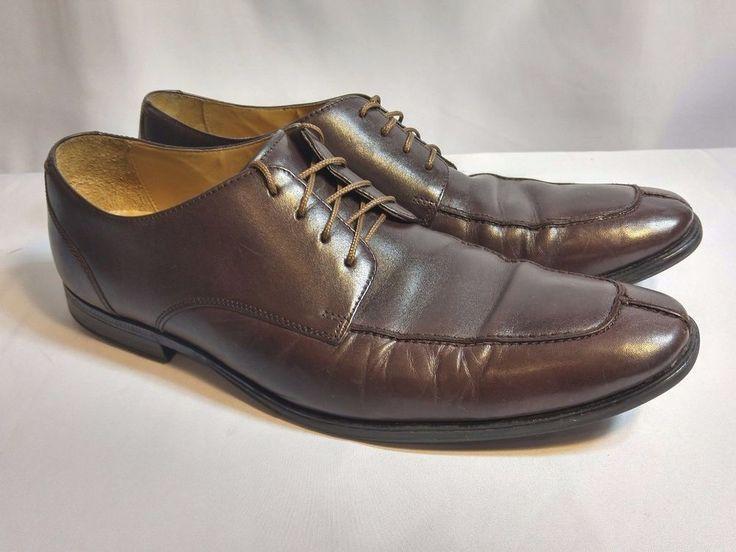 COLE HAAN SPLIT TOE OXFORD - SIZE 10.5 M - Brown Leather Dress Shoe Model  C11831
