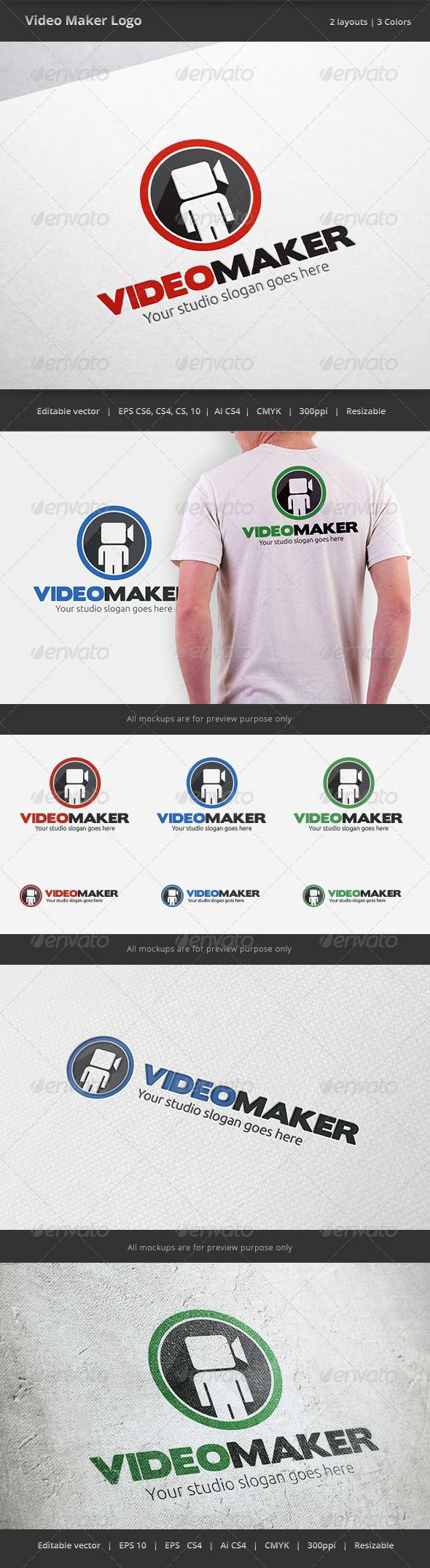 T-shirt design zeixs - Video Maker Logo