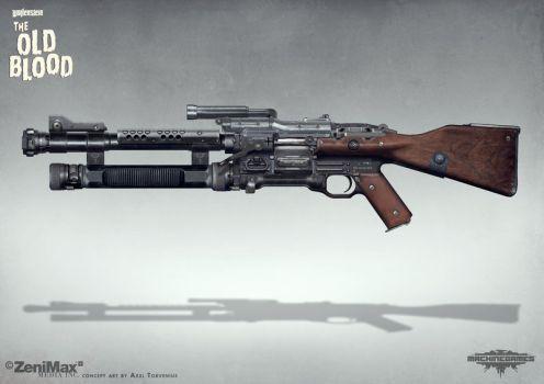 Concept art Wolfenstein The Old Blood - Schockhamm by torvenius